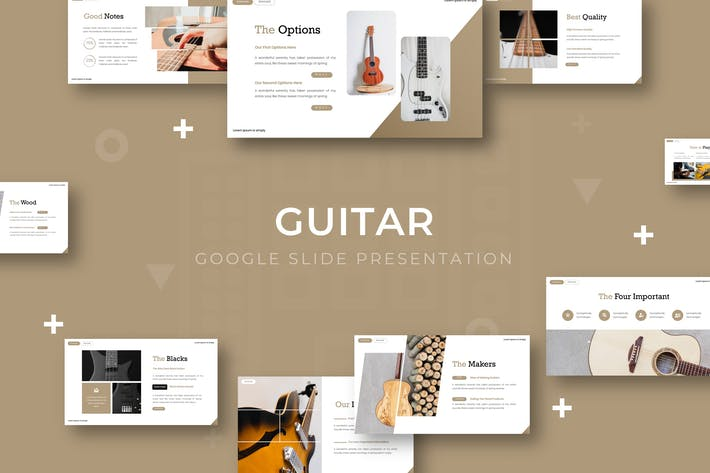 Thumbnail for Guitar - Google Slide Template