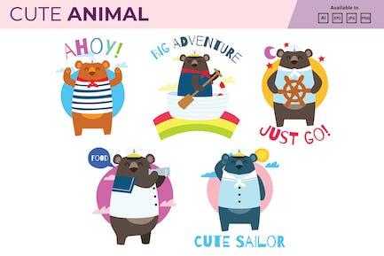 Sailor bear collection JPG PNG