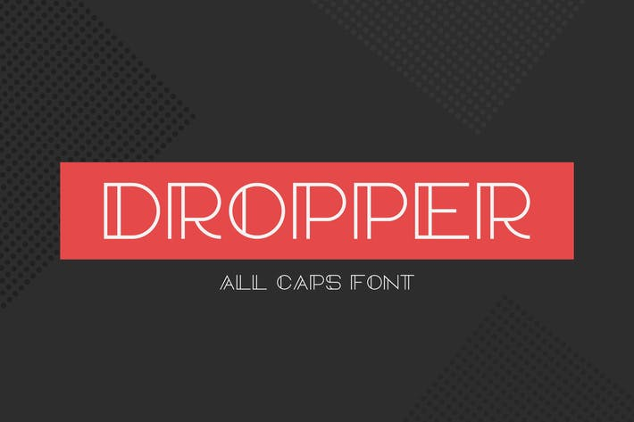 Cover Image For Dropper Font