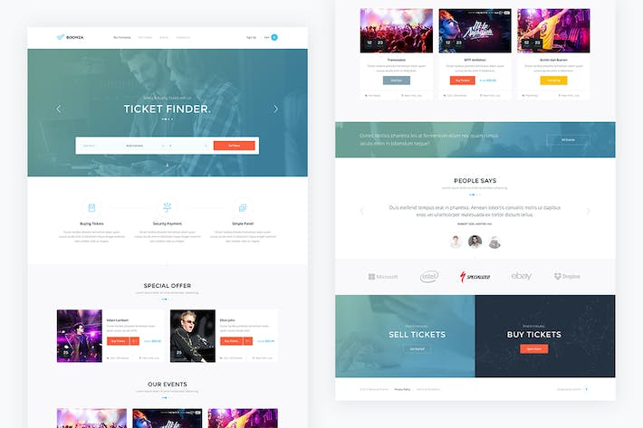 Boomza — Event Landing Page PSD Template by GvimmThemes on Envato ...