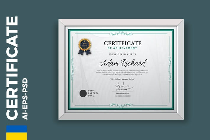 Thumbnail for Professional Vintage Certificate/Diploma Template