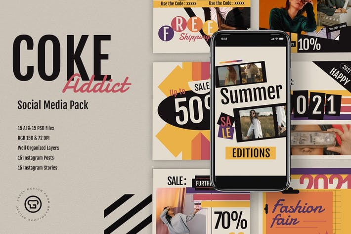 Coke Addict Social Media Pack