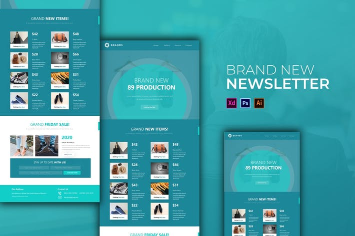 Cover Image For Brand New | Newsletter Template