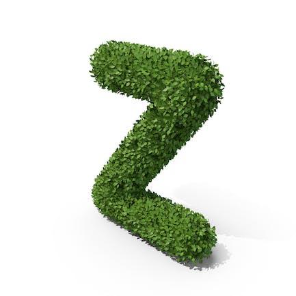 Letra en forma de seto Z