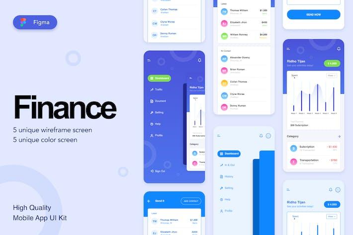 Thumbnail for Kit de interfaz de usuario de Aplicación móviles de Finance