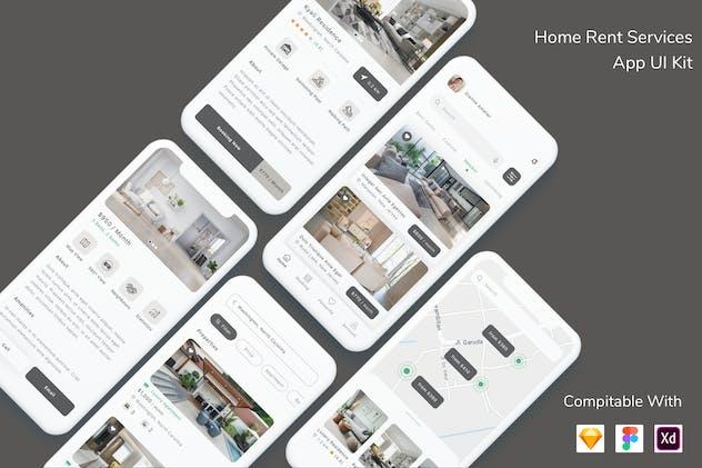 Home Rent Services App UI Kit