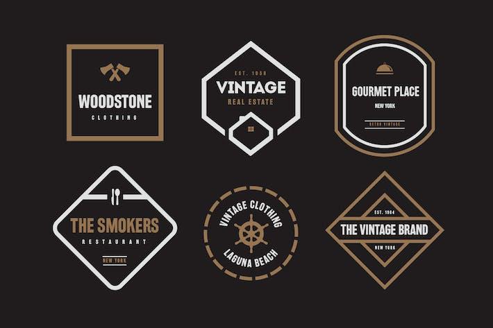 Thumbnail for Vintage Labels and Badges V1