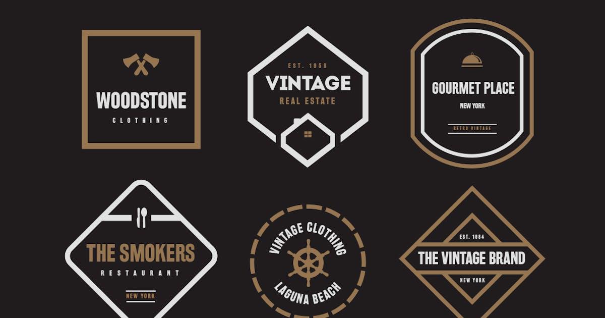 Download Vintage Labels and Badges V1 by designdistrictmx