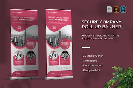 Secure Company   Roll Up Banner