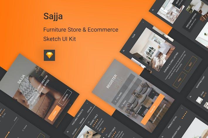 Thumbnail for Sajja - Furniture Store & Ecommerce Sketch UI Kit