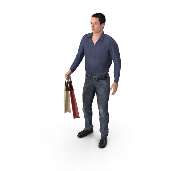 Thumbnail for Casual Man James Holding Shopping Bags