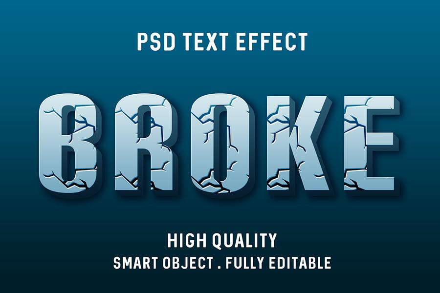 Efecto de texto roto 3d