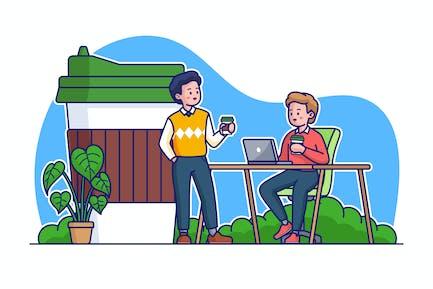 Иллюстрация кофе-б