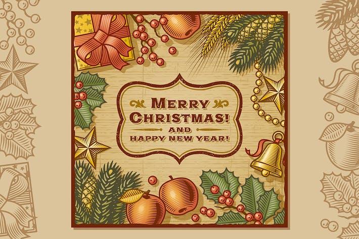 Thumbnail for Christmas Retro Card