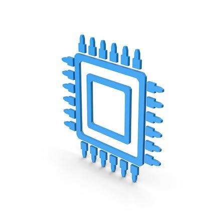 Symbol Microchip Blue