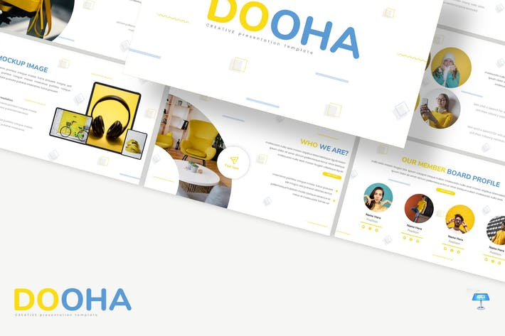 Thumbnail for Dooha - Creative Keynote Template