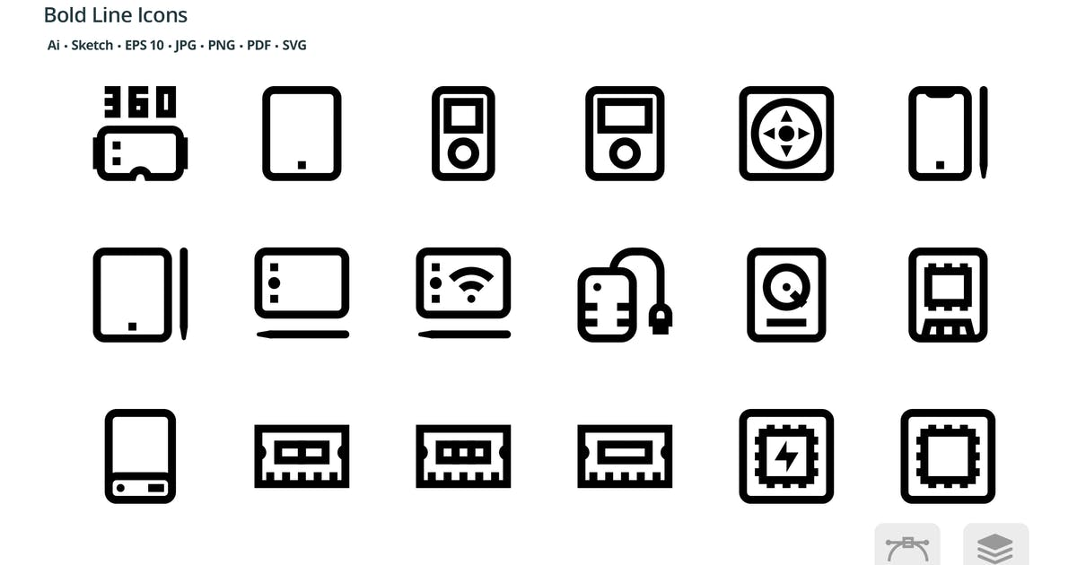 Download Electronic Gadgets Mini Bold Line Vector Icons by roundicons