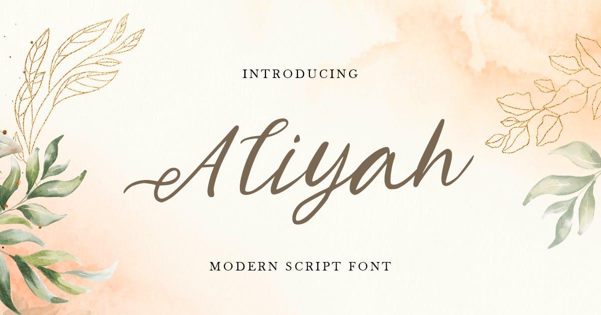 Download Aliyah - Modern Script Font by HamzStudio
