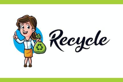 Recycle - Environmental Campaign Mascot Logo