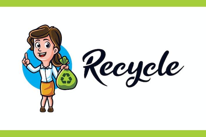 Thumbnail for Recycle - Environmental Campaign Mascot Logo