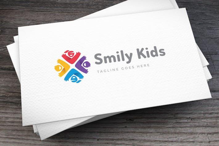 Smily Kids Logo Template