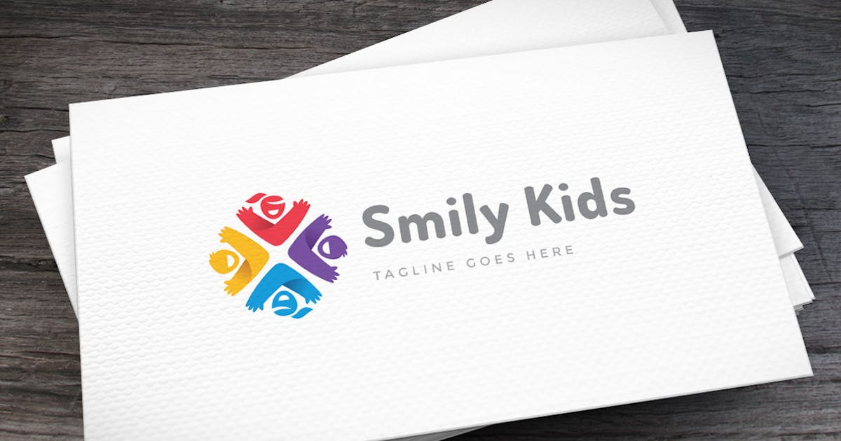 Download Smily Kids Logo Template by empativo