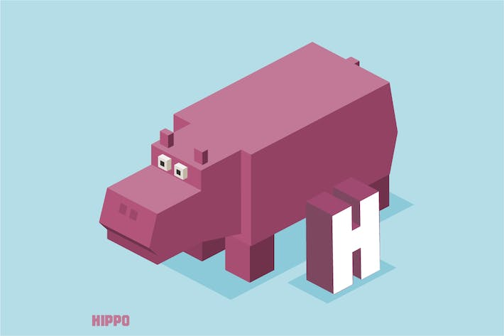 Thumbnail for H for hippo Animal Alphabet