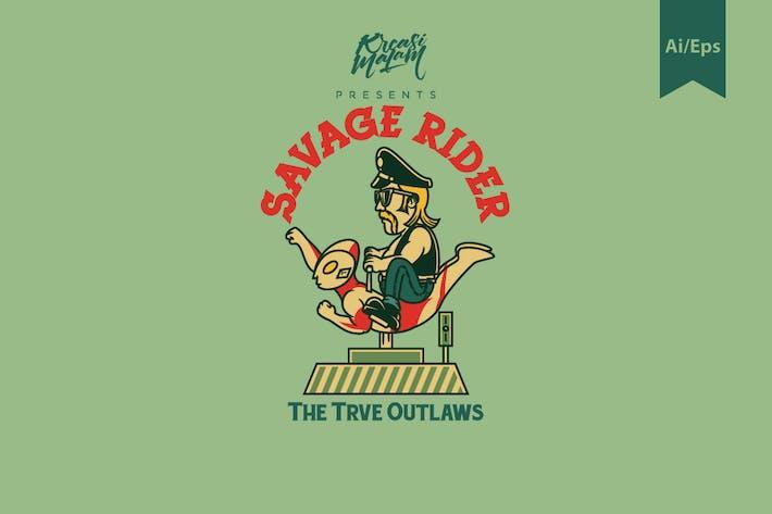 Thumbnail for Savage Rider Logo Template