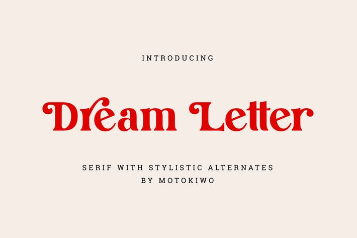 Thumbnail for Dream Letter, Display Serif Font