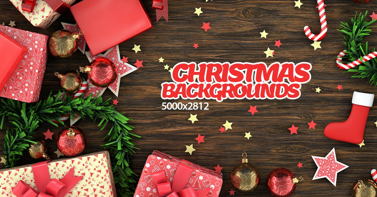 Download Christmas Objects on Table Backgrounds by Abdelrahman_El-masry