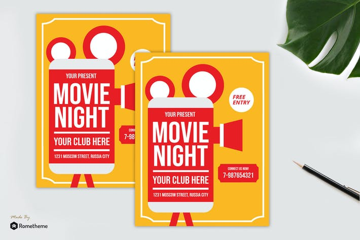 Thumbnail for Movie Night Flyer vol. 03