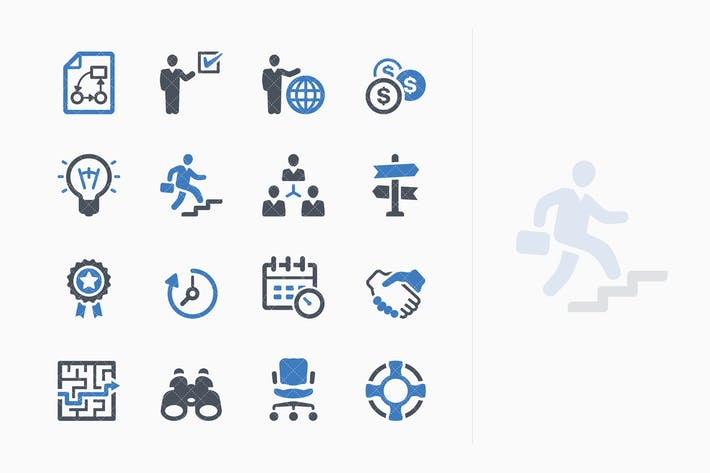 Thumbnail for Business Icons Set 3 - Blue Series