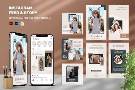 Brandana - Instagram Feeds & Stories Pack