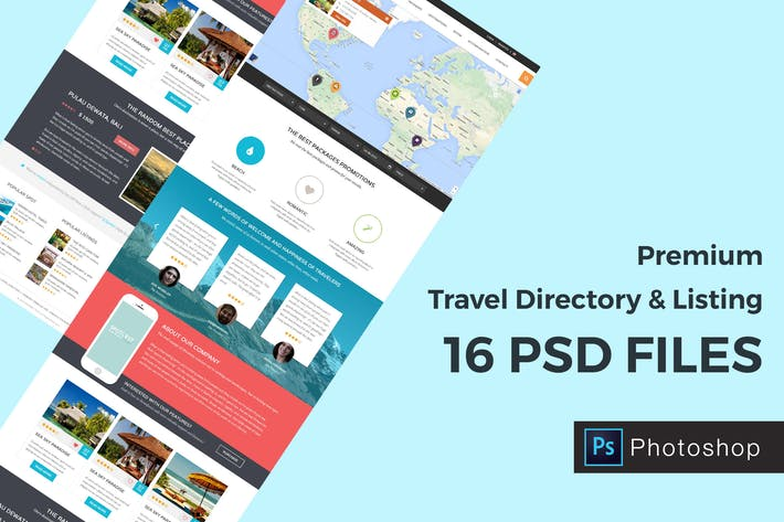 Thumbnail for Travel Directory and Listing PSD Template