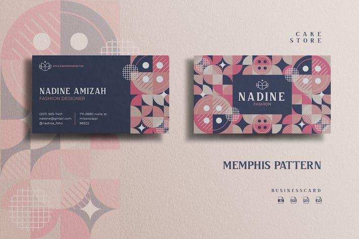 Thumbnail for Memphis Pattern Theme - Fashion Businesscard