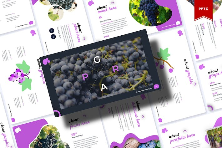 Thumbnail for Grape   Powerpoint Template