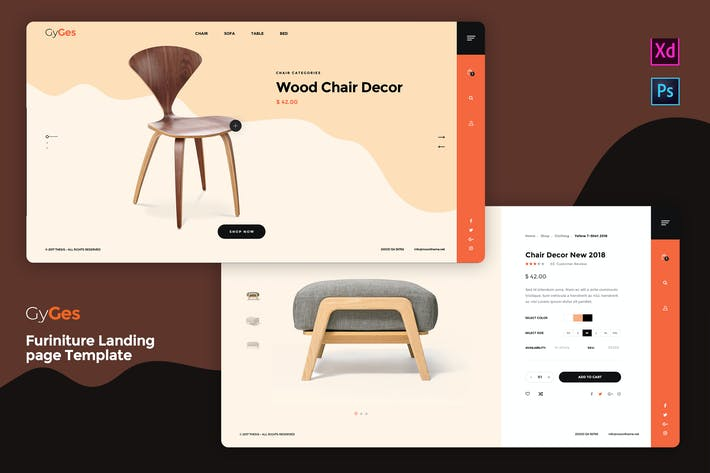 Thumbnail for Gyges - Furniture Landing page Template