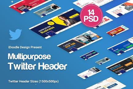 Multipurpose, Business Twitter Headers