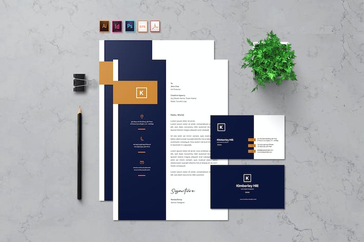 Cover Image For Letterhead & Business Card - Rantautemp