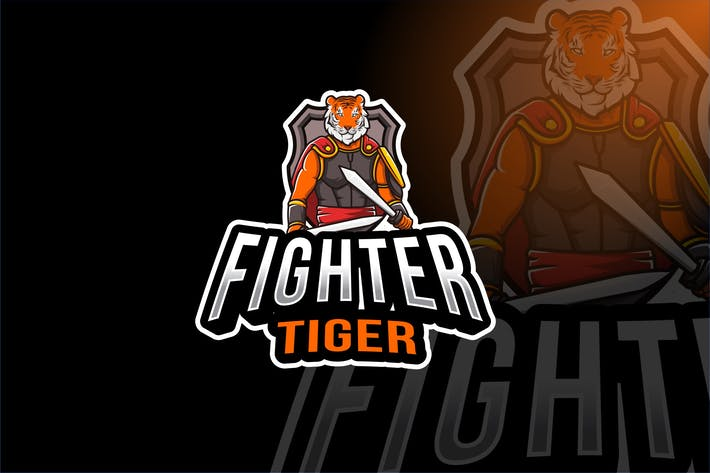 Thumbnail for Fighter Tiger Esport Logo Template
