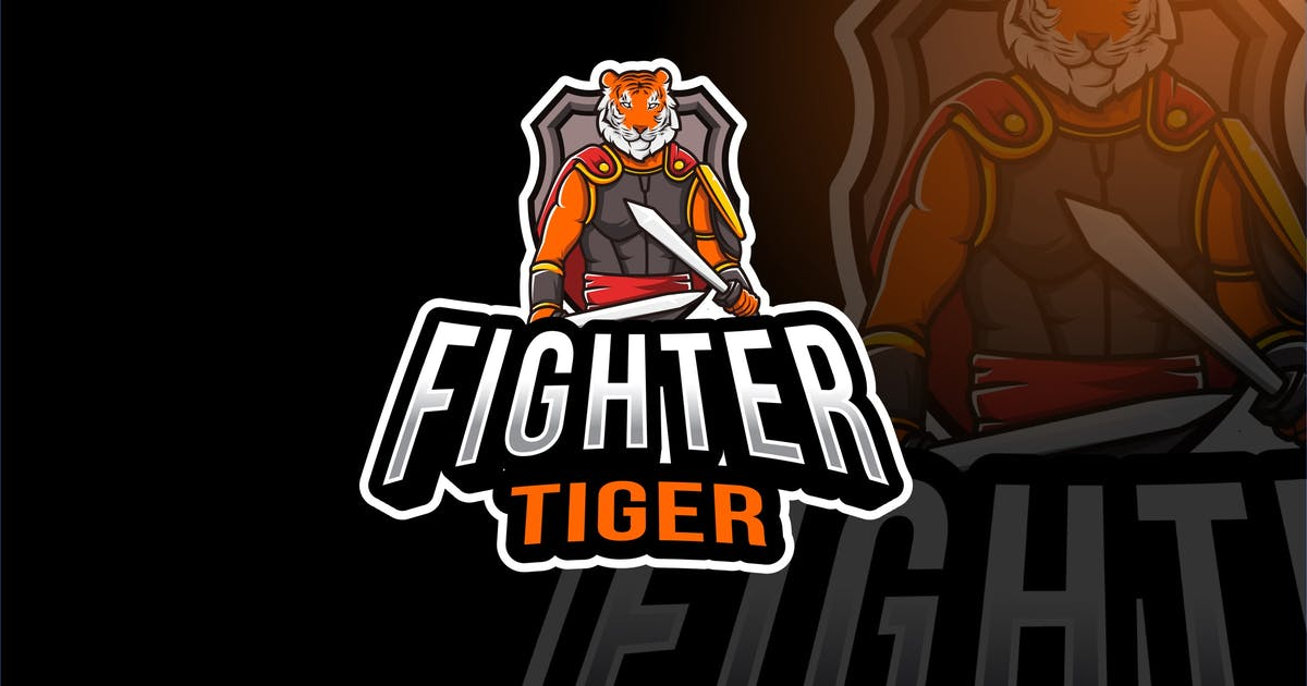 Download Fighter Tiger Esport Logo Template by IanMikraz