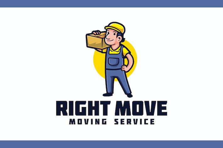 Cartoon Retro Mover - Moving Service Logo