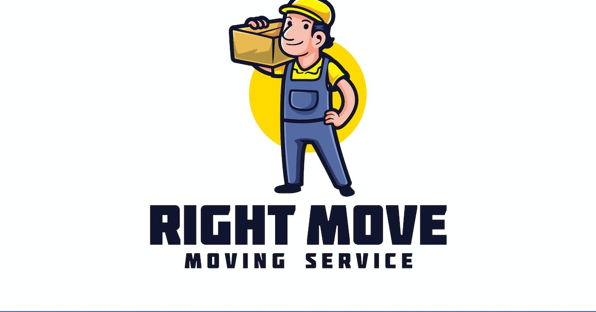 Download Cartoon Retro Mover - Moving Service Logo by Suhandi