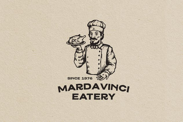 Bakery and Eatry Vintage Character Logo