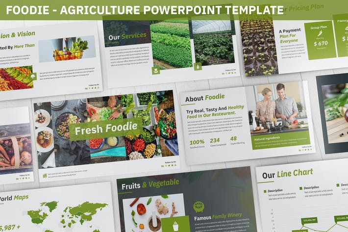 Thumbnail for Foodie - Fresh Powerpoint Template
