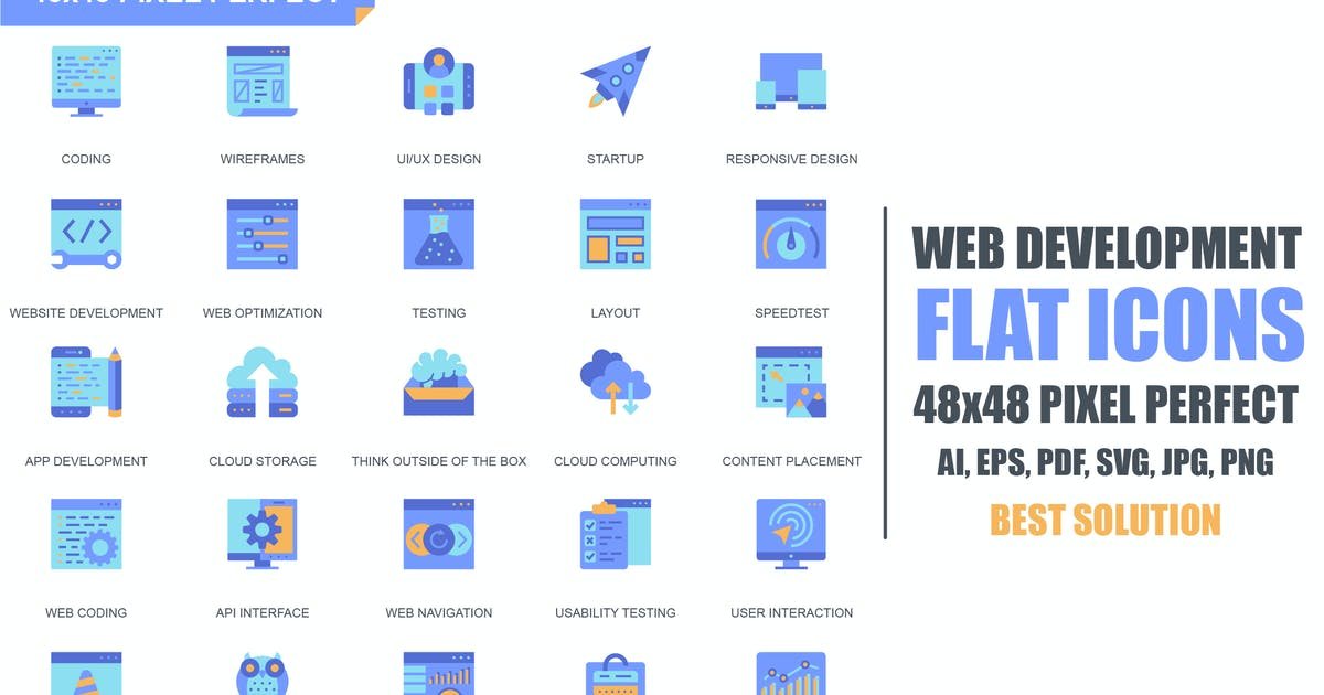 Download Simple Set Web Disign and Development Flat Icons by alexdndz