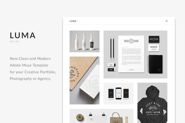 LUMA - Creative Muse Template - product preview 3
