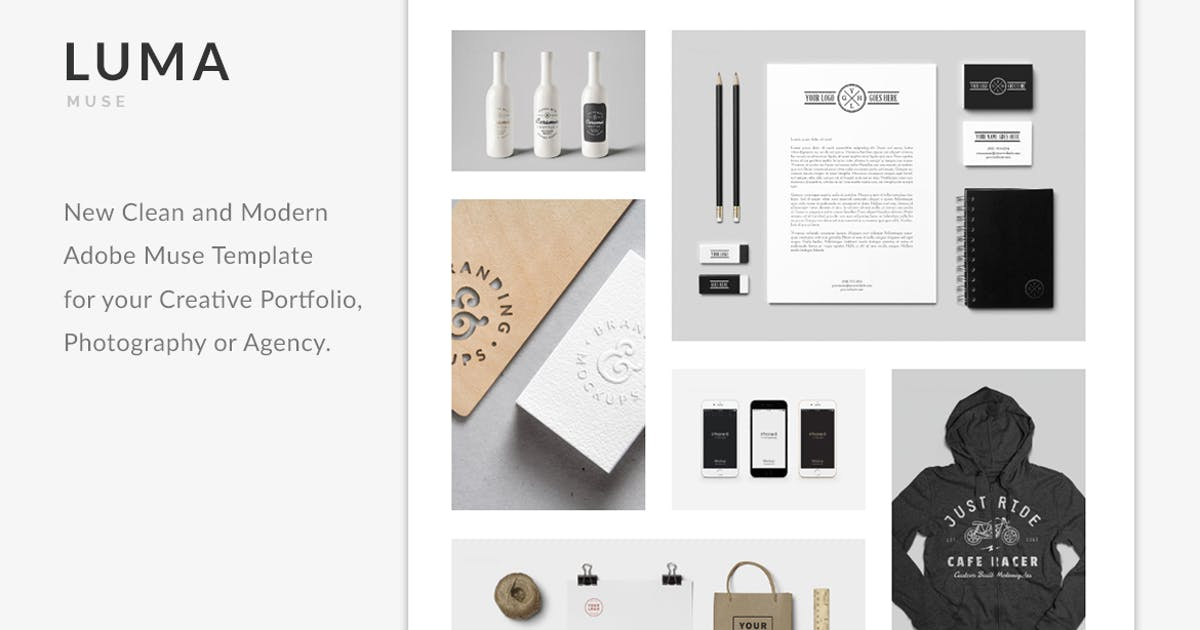 Download LUMA - Creative Muse Template by MuseFrame