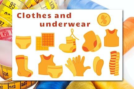 Slothes und Unterwäsche-Icons