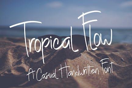 Tropical Flow - Casual Handwritten Font